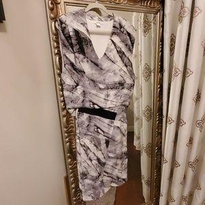 Helmut Lang drop waist silk dress